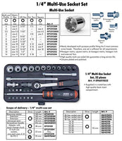 Zebra Motorcycle Tools 1/4 Multi-Use 32 pc. Socket Set