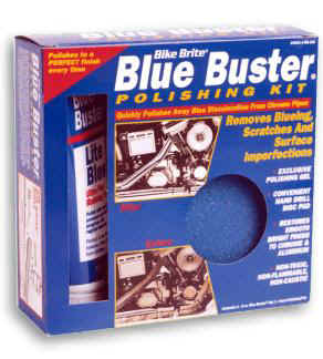 Bike Brite Blue Buster Motorcycle Chrome Pipe Cleaning Kit