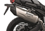 BMW Motorcycles F850GS|ADV|F750GS HP Akrapovic Titanium Slip-On Exhaust - Silver