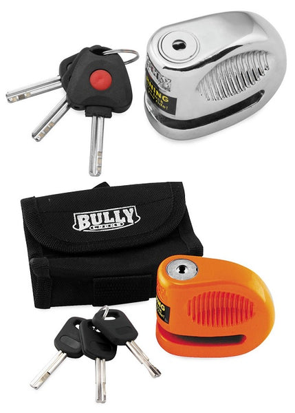 Bully Li'l Bully Hardened Metal Motorcycle Disc Lock Kit w/pouch