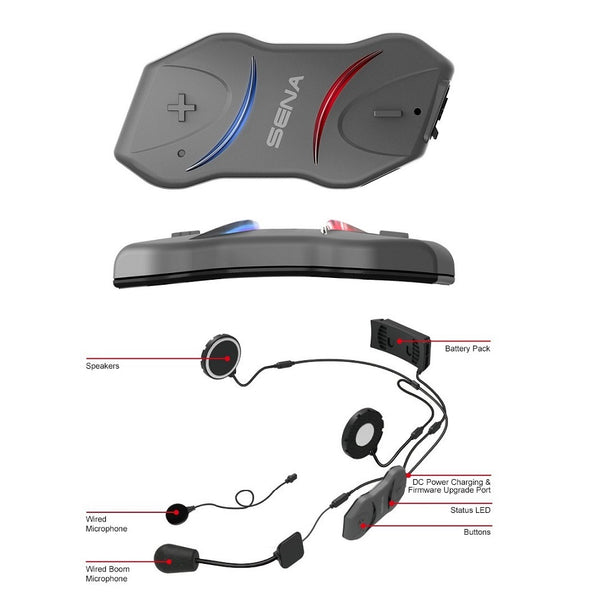 Sena 10R Bluetooth Stereo Headset and Universal Intercom with Re