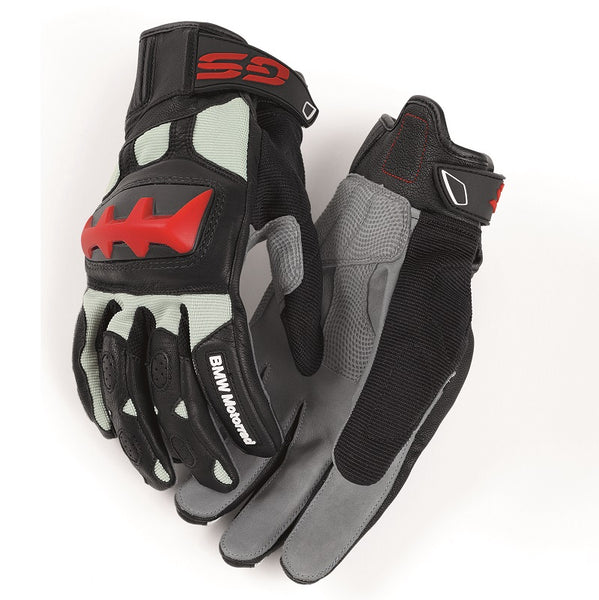 BMW Motorcycles Rallye Gloves Gray/Red