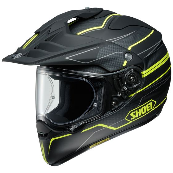 Shoei Hornet X2 Navigate Matte Black/Yellow Helmet