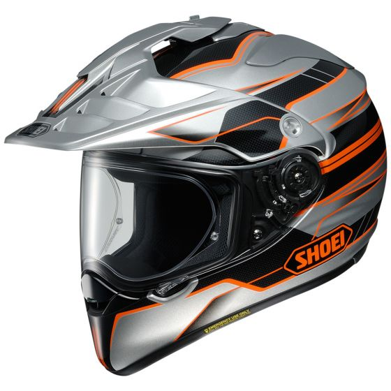 Shoei Hornet X2 Navigate Silver/Black/Orange Helmet