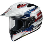 Shoei Hornet X2 Navigate White/Red/Blue Helmet