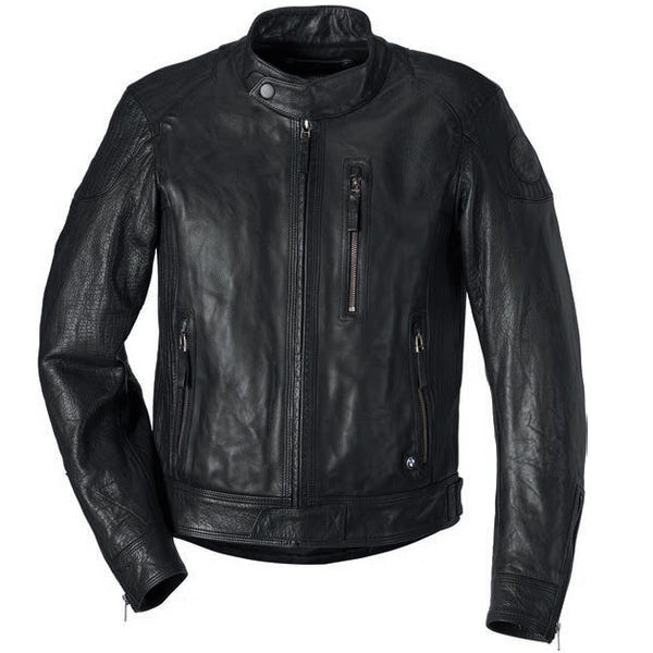 BMW Motorcycles Black Leather Jacket Men's