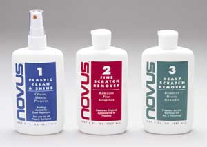 Novus 1,2,3 Motorcycle Plastic Polish Kit