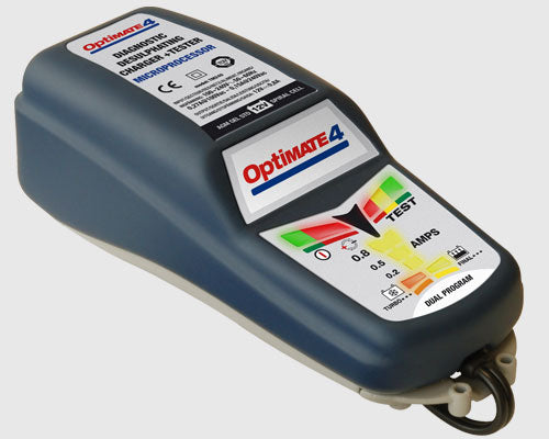 OptiMate 4 CAN-BUS Motorcycle Battery Charger with BMW Plug