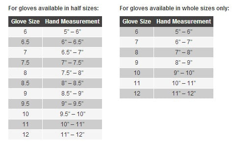 Held Motorcycle Glove Size Chart