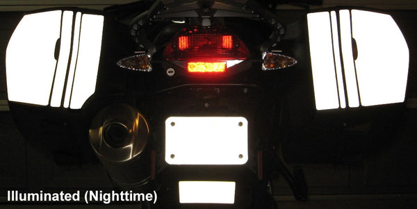 MotoEquip F800GT Saddlebag Reflective Kit