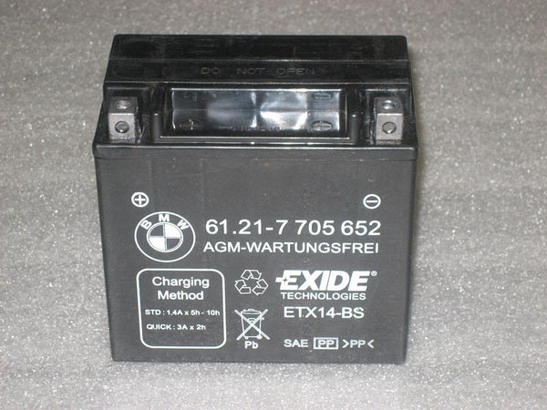 BMW Motorcycles AGM Battery 12volt 12AH