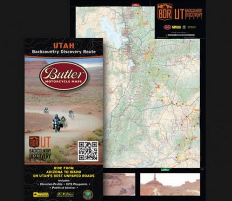 Butler Backcountry Discovery Route Motorcycle Map