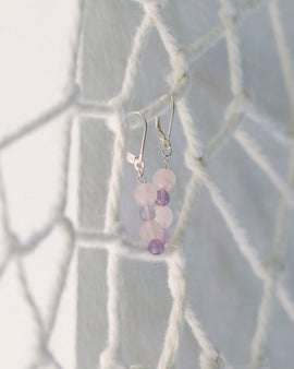 Rose Quartz & Amethyst Earrings