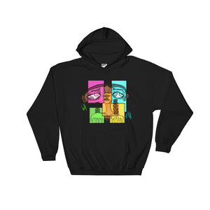 Open image in slideshow, [Four Eyes] Hooded Sweatshirt