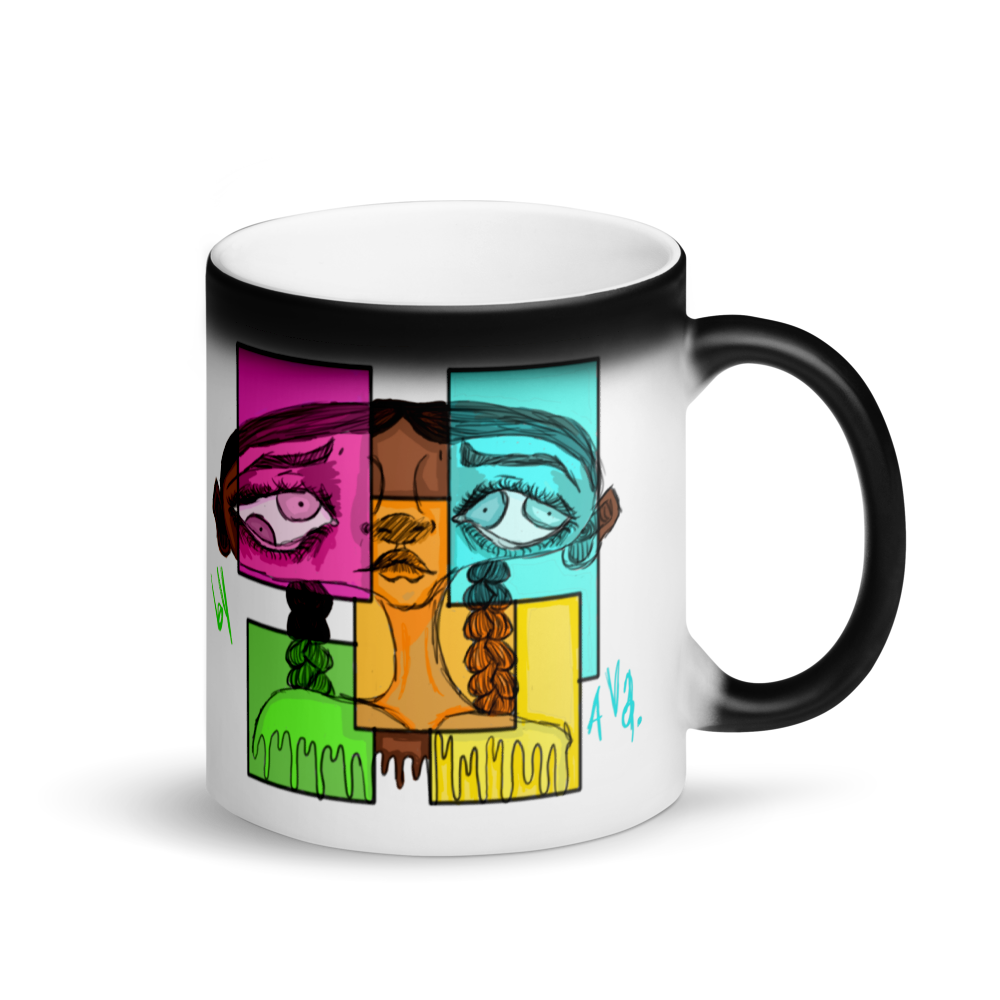 [Four Eyes] Matte Black Magic Mug