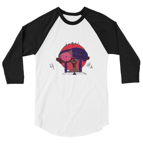 [Flowerchild] 3/4 sleeve raglan shirt
