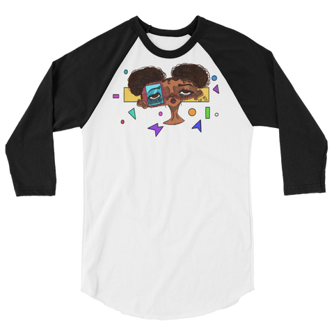 Shapes & Emotions 3/4 sleeve raglan shirt