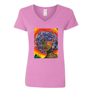 Open image in slideshow, [TRUE COLORS] Women's V-Neck T-Shirt