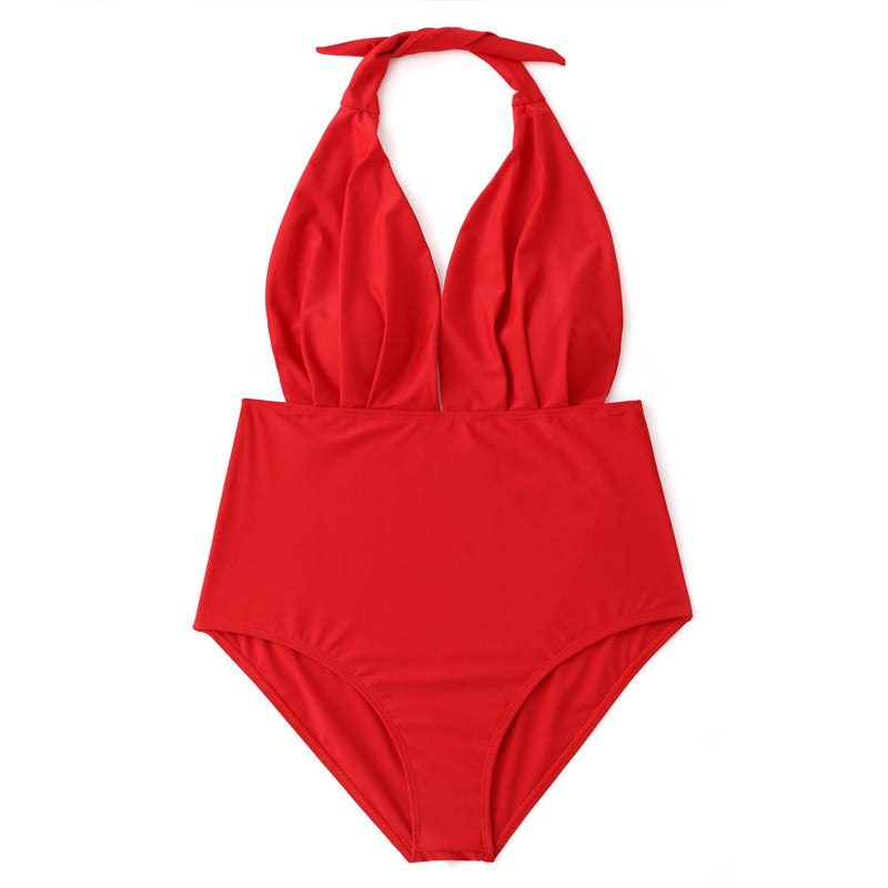 dde5d83bdfb Plus Size Striped High Waisted Swimsuit – Queen Size Zone