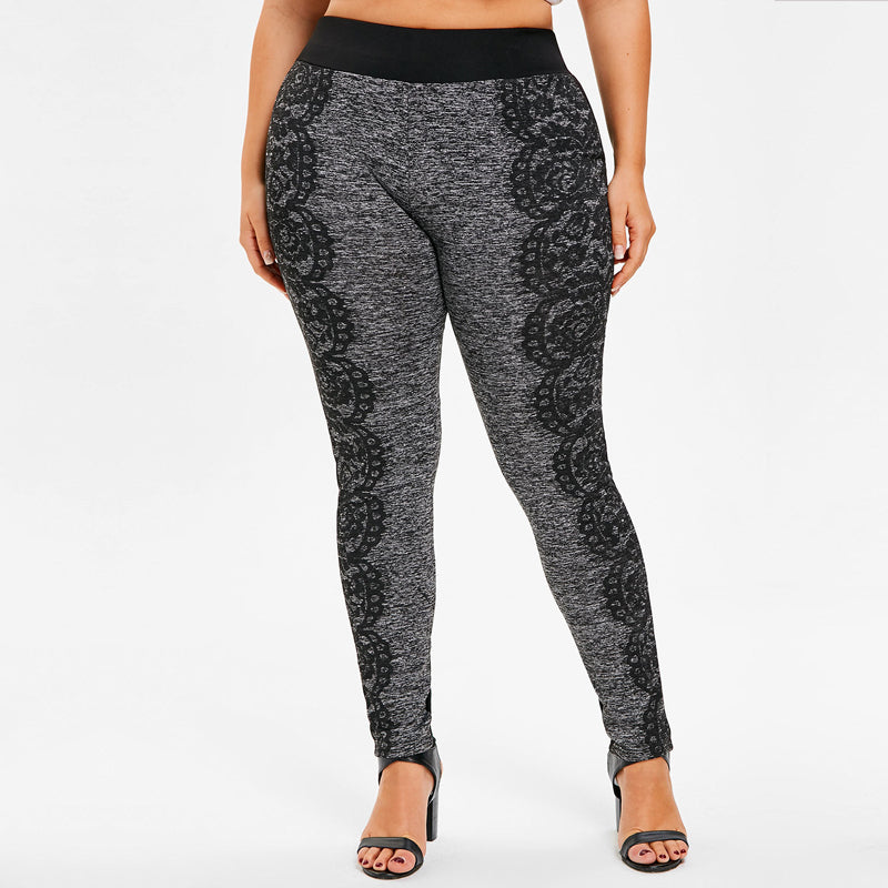 b6f18dbb72f Plus Size Fitted Pants with Print – Queen Size Zone