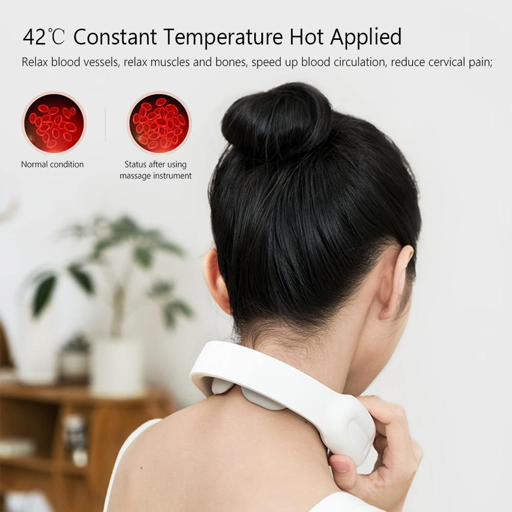 Smart Electric Neck and Shoulder Massager Pain Relief Tool Health Care Relaxation Cervical Vertebra Physiotherapy Health Care