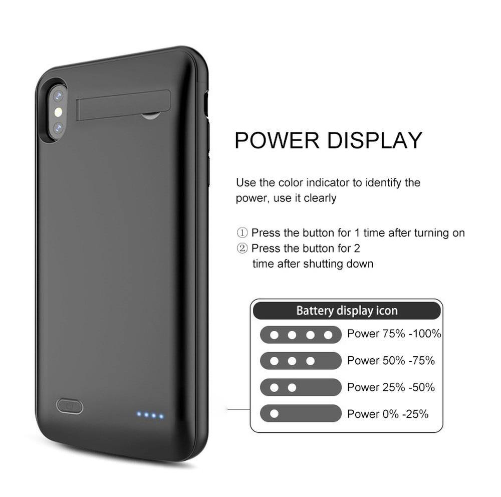Battery Charger Case For iPhone 6 6S 7 8 X XR Xs Max