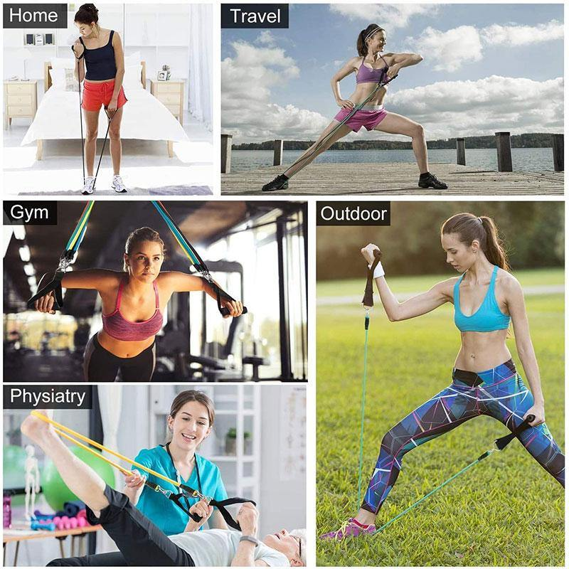 Fitness Resistance Bands Set - Elastic Bands for Yoga Exercise Crossfit Training