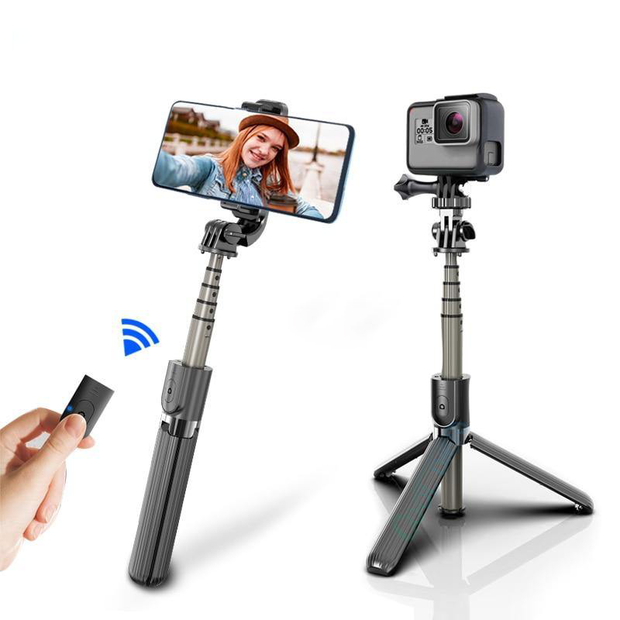 Wireless bluetooth Selfie Stick/Tripod With Remote - Gimme Trend