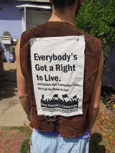 "Poor  People' s Campaign Patch - ""Everybody's Got a Right to Live"""