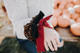 Bow Scrunchie // Cranberry