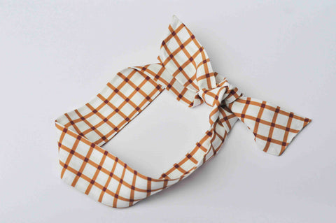 Hair Scarf // Butterscotch Grid