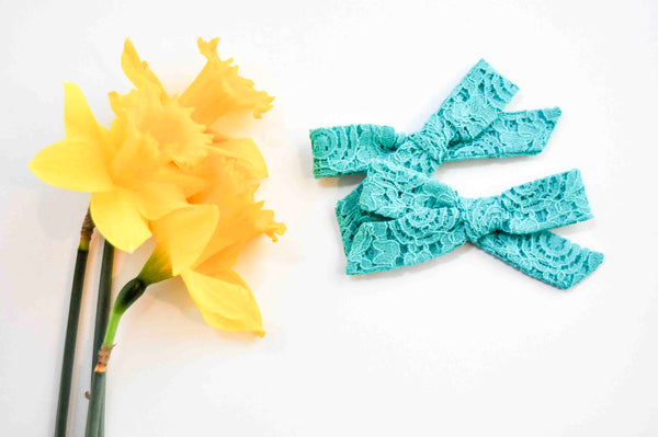 Pigtail Set Medium Florence // Tea Cup Teal
