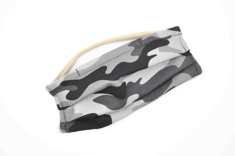 Grey Camo // Kids Face Mask
