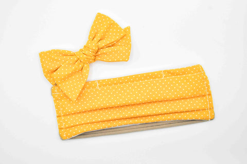 Marigold Dot // Kids Face Mask + Bow Combo