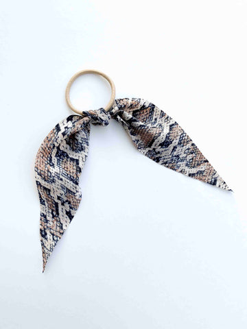 Mini Hair Scarf // Snakeskin