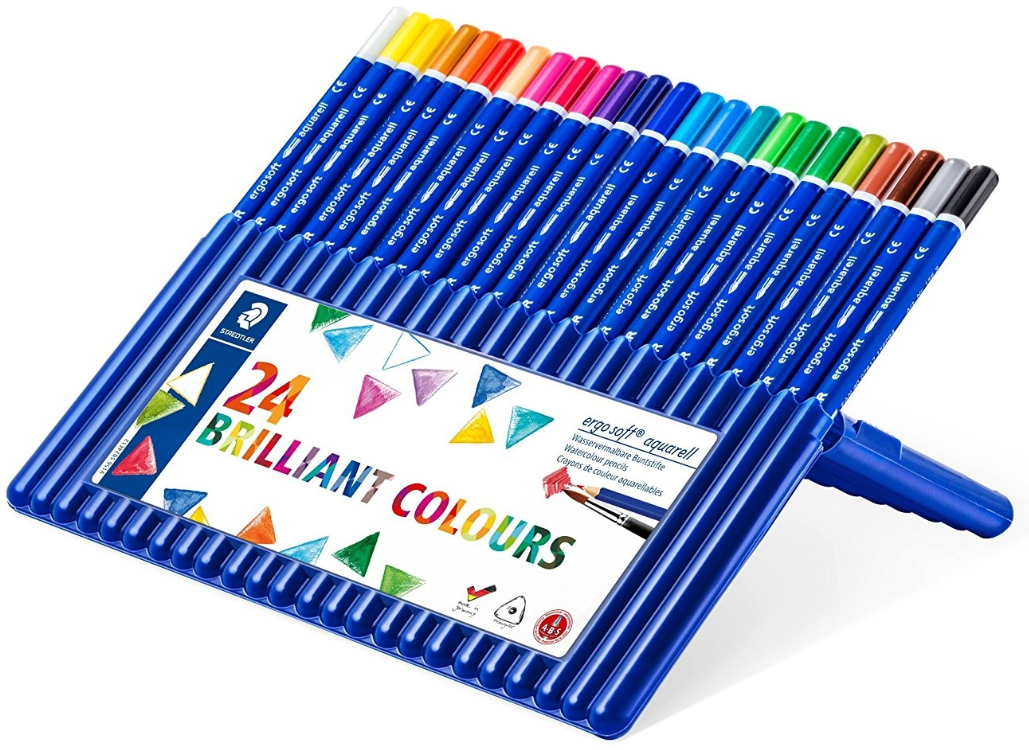 Staedtler Ergo Soft Aquarell Pencils 24 Brilliant Colours