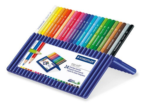Staedtler Ergo Soft Colouring Pencils 24 Brilliant Colours