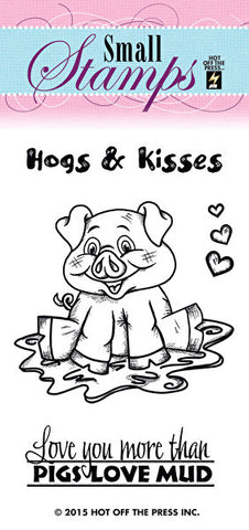 *CLEARANCE* Hot Off The Press Small Silicone Stamps - Hogs and Kisses