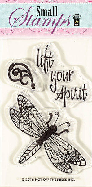 *CLEARANCE* Hot Off The Press Small Silicone Stamps - Zen Dragonfly