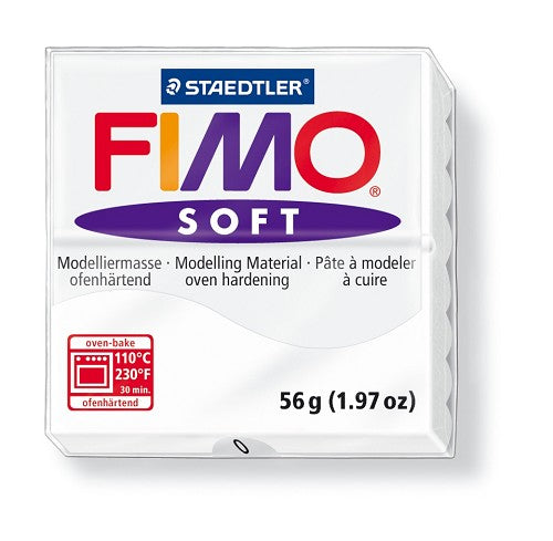 Staedtler Fimo Soft Modelling Clay Block 56g - White