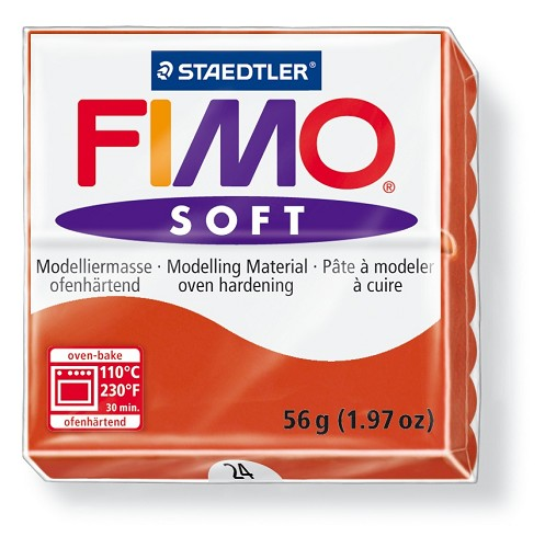 Staedtler Fimo Soft Modelling Clay Block 56g - Indian Red