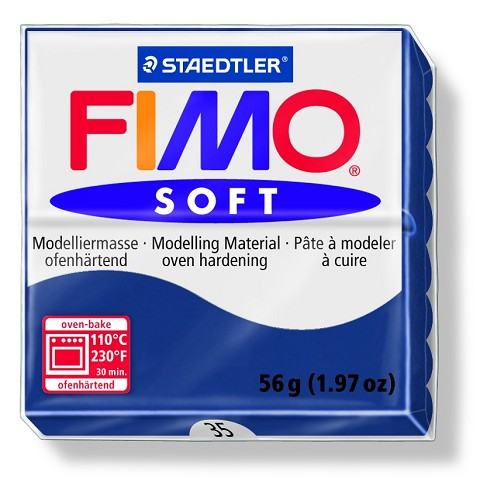 Staedtler Fimo Soft Modelling Clay Block 56g - Windsor Blue