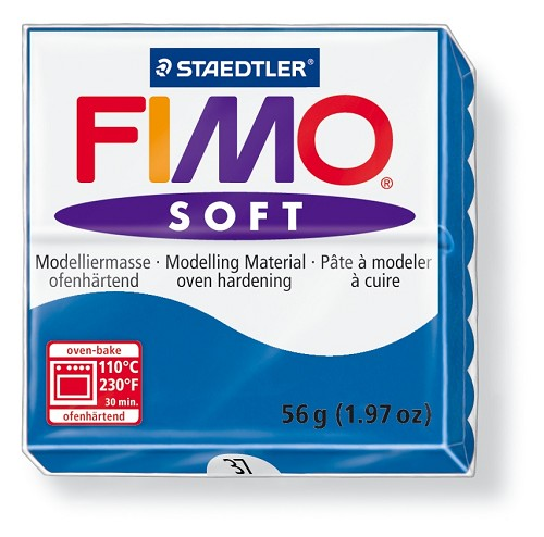Staedtler Fimo Soft Modelling Clay Block 56g - Pacific Blue