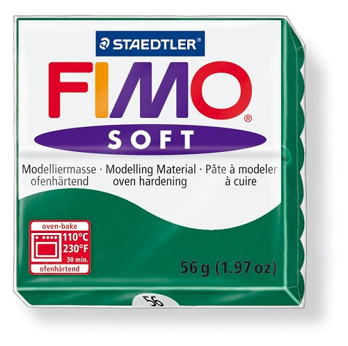 Staedtler Fimo Soft Modelling Clay Block 56g - Emerald