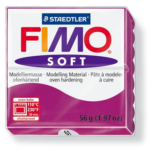 Staedtler Fimo Soft Modelling Clay Block 56g - Purple Violet