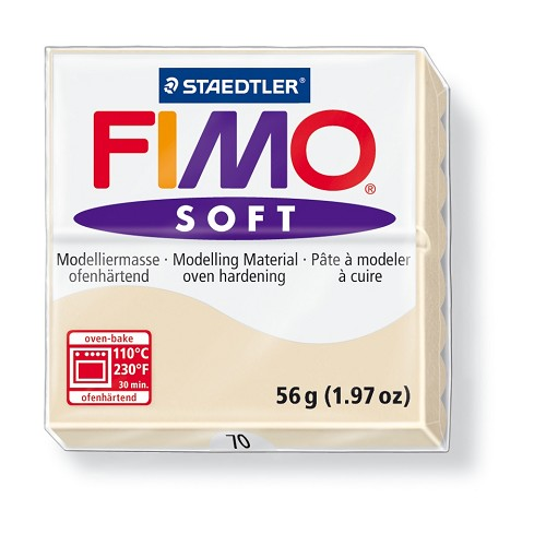 Staedtler Fimo Soft Modelling Clay Block 56g - Sahara