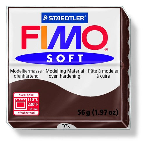 Staedtler Fimo Soft Modelling Clay Block 56g - Chocolate