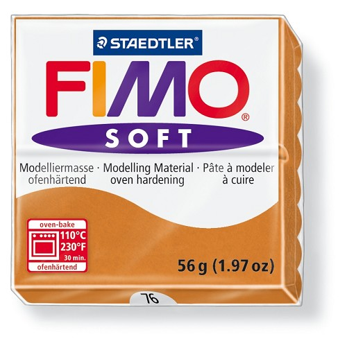 Staedtler Fimo Soft Modelling Clay Block 56g - Cognac