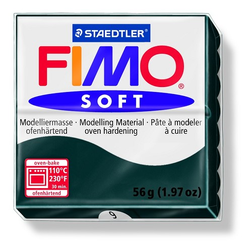 Staedtler Fimo Soft Modelling Clay Block 56g - Black
