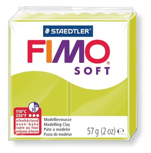 Staedtler Fimo Soft Modelling Clay Block 56g - Green Lime